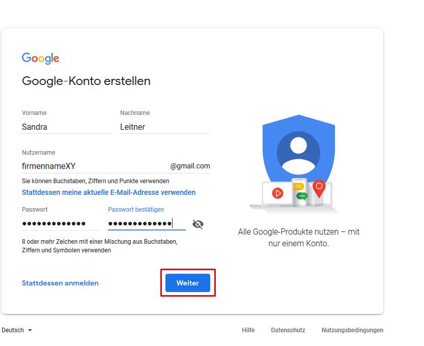 Google Konto Für Kind Erstellen