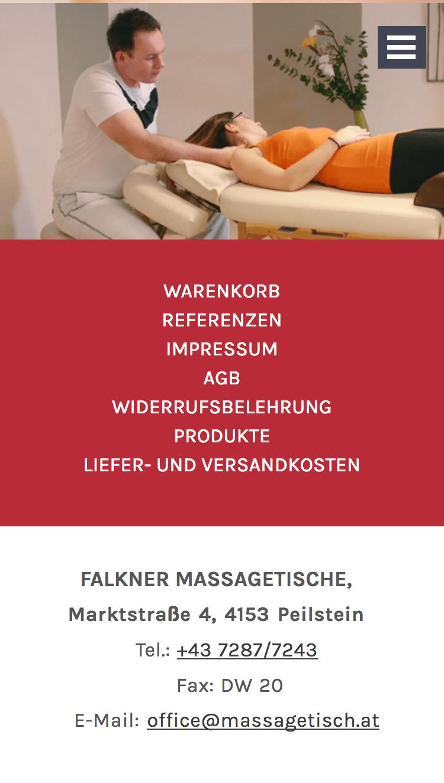 Falkner Massagetische